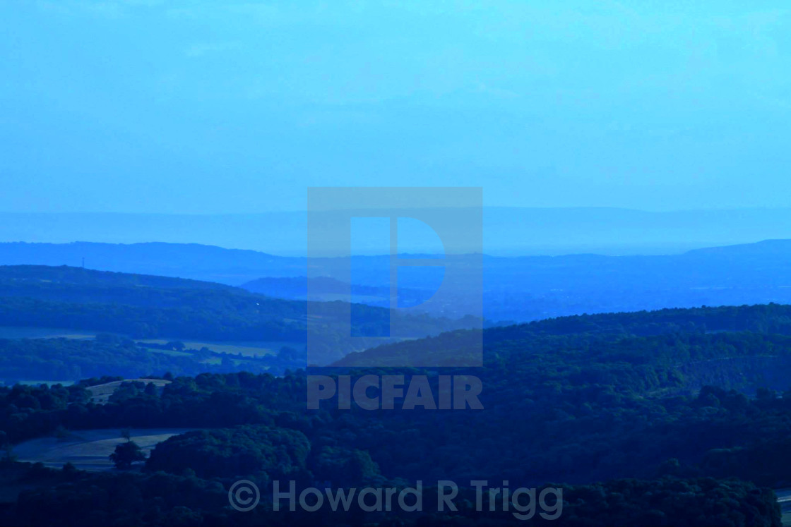 """Wales from Bristol"" stock image"