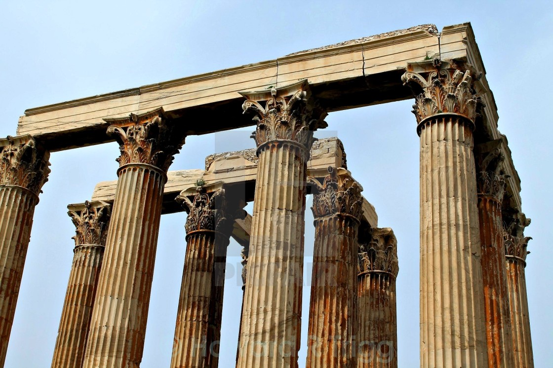 """Temple of Zeus in Athens, Greece"" stock image"