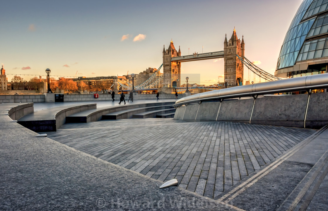 """Tower Bridge from More London"" stock image"