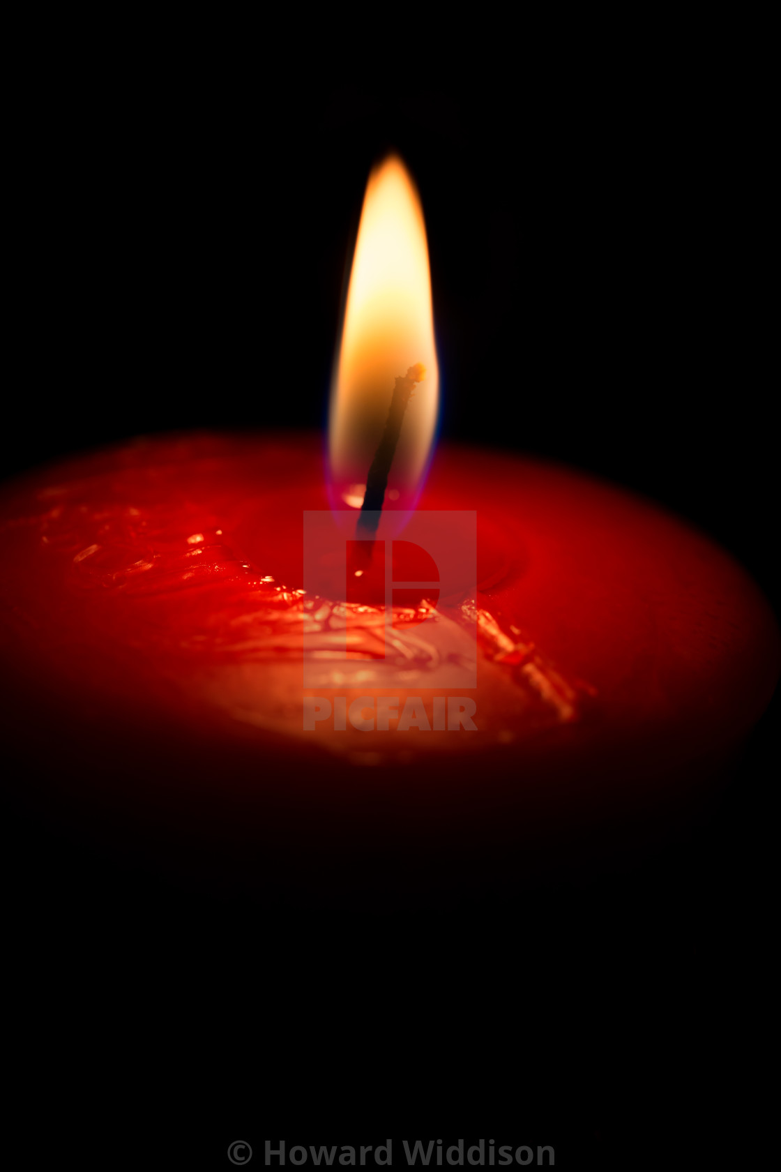 """Burning Candle"" stock image"