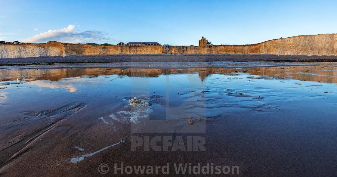 """Birling Gap from the Beach"" stock image"