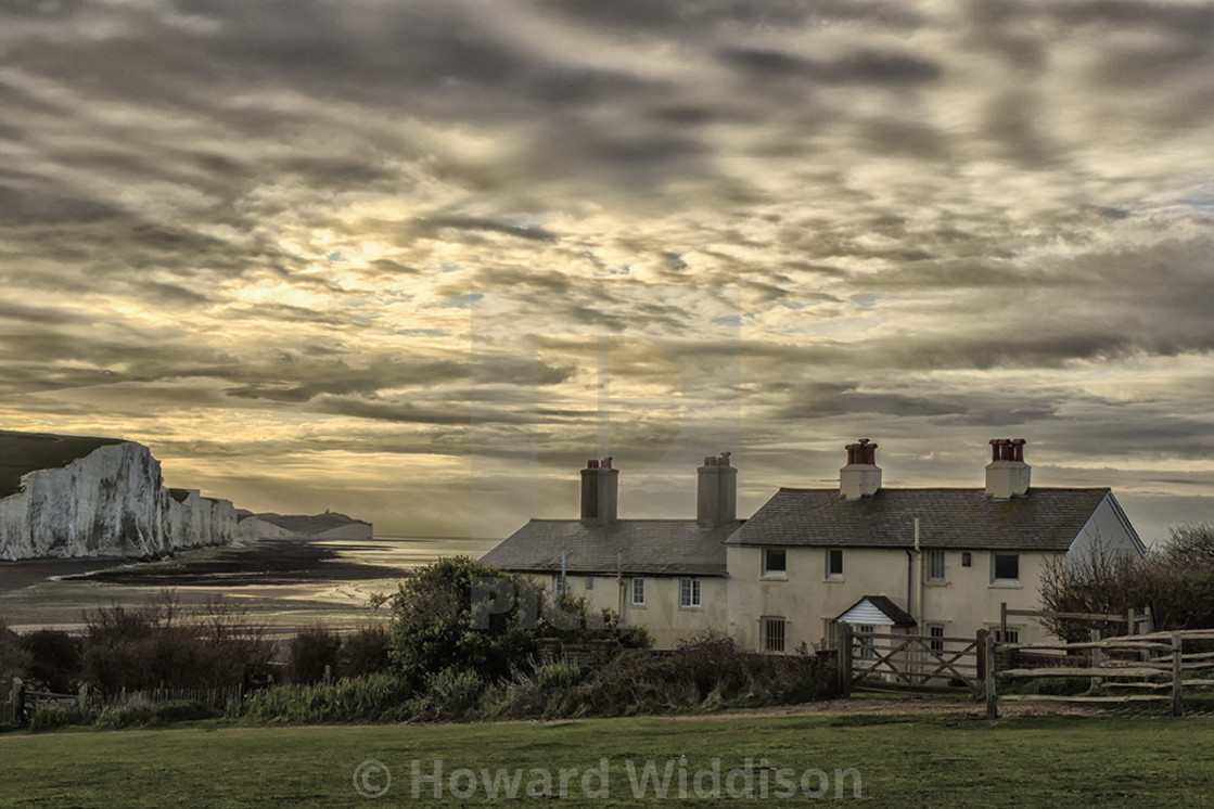 """""""Costguard cottages"""" stock image"""