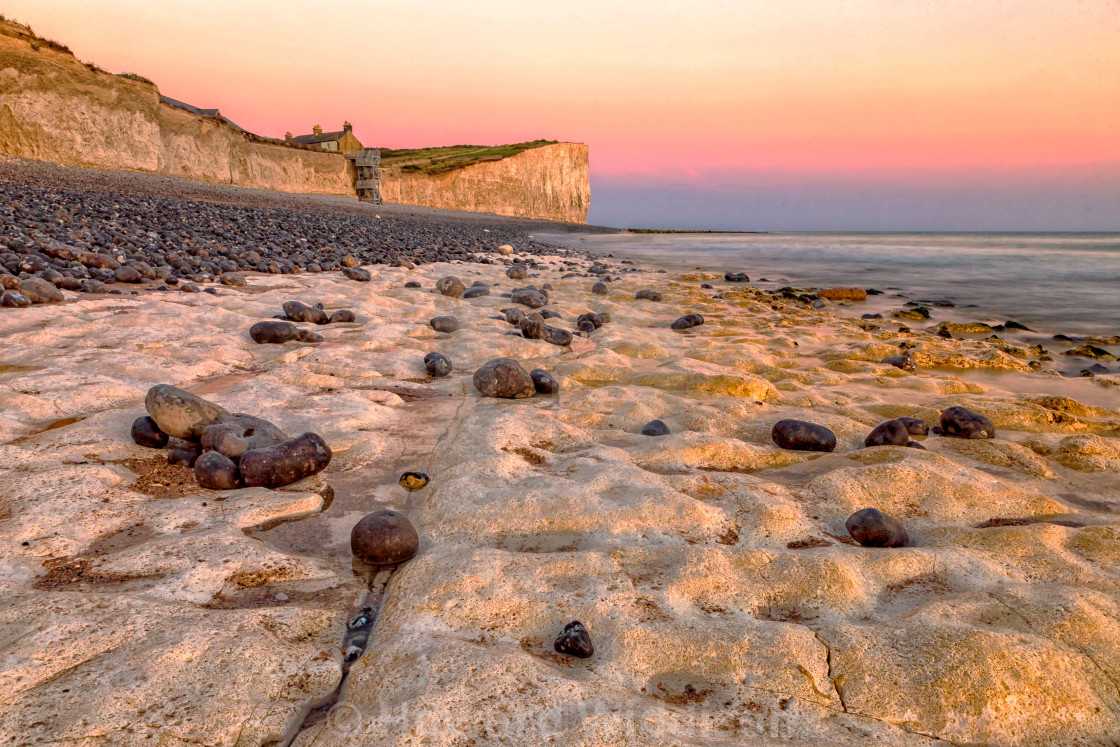 """""""Looking East at Birling Gap"""" stock image"""
