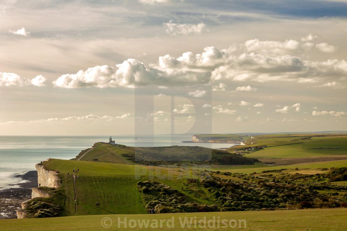"""Belle Tout Lighthouse in the Autumn Sun"" stock image"