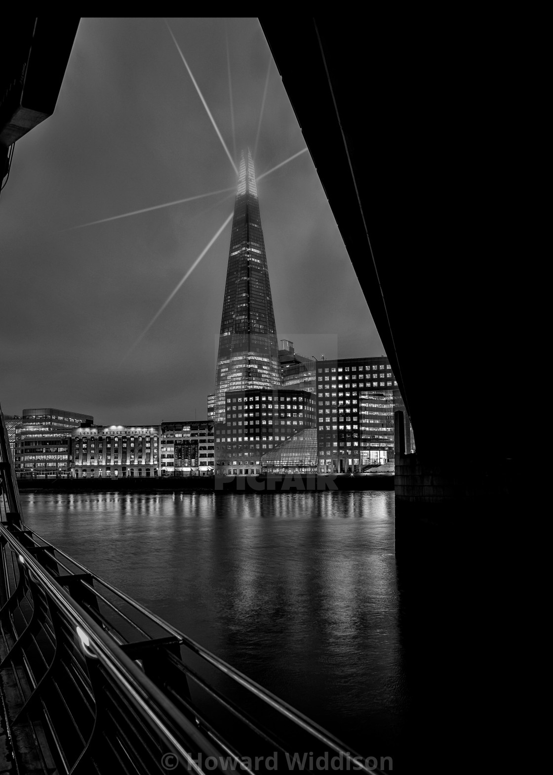 """The Shard, London Bridge"" stock image"