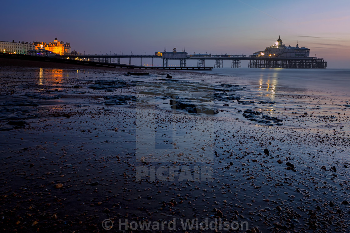 """Eastbourne Pier: The blue Hour"" stock image"