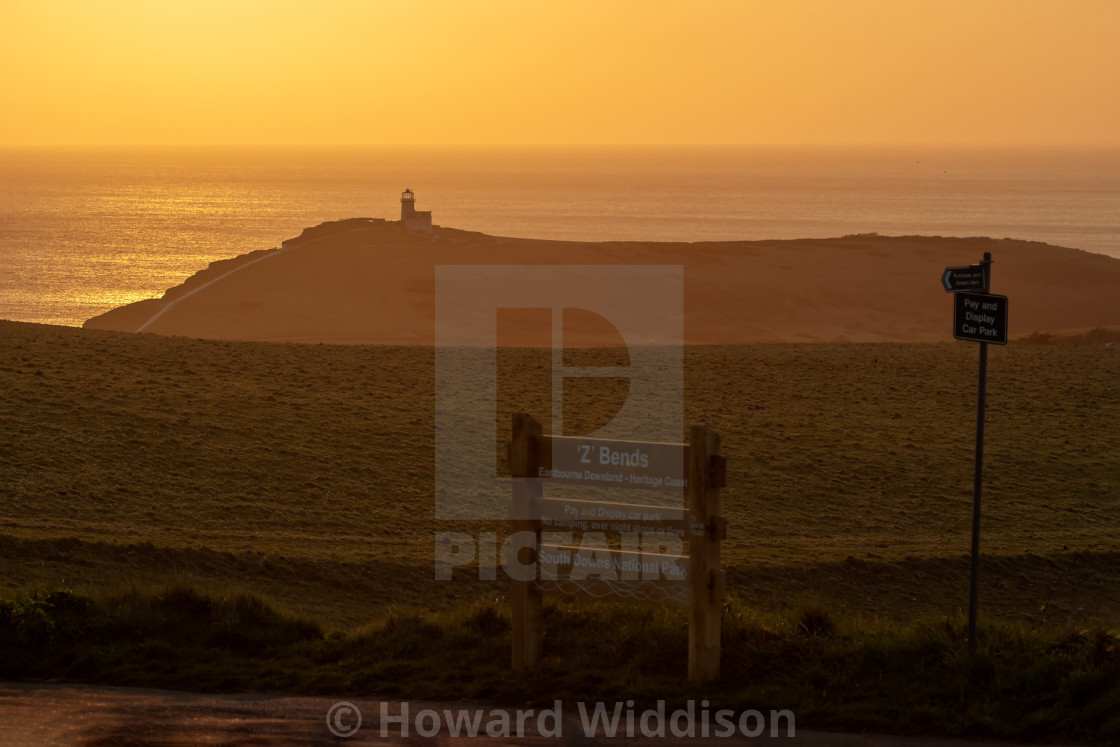 """Belle Tout Sunset 2"" stock image"