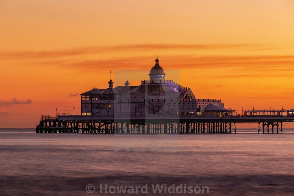 """Eastbourne Pier Winter Sunset"" stock image"