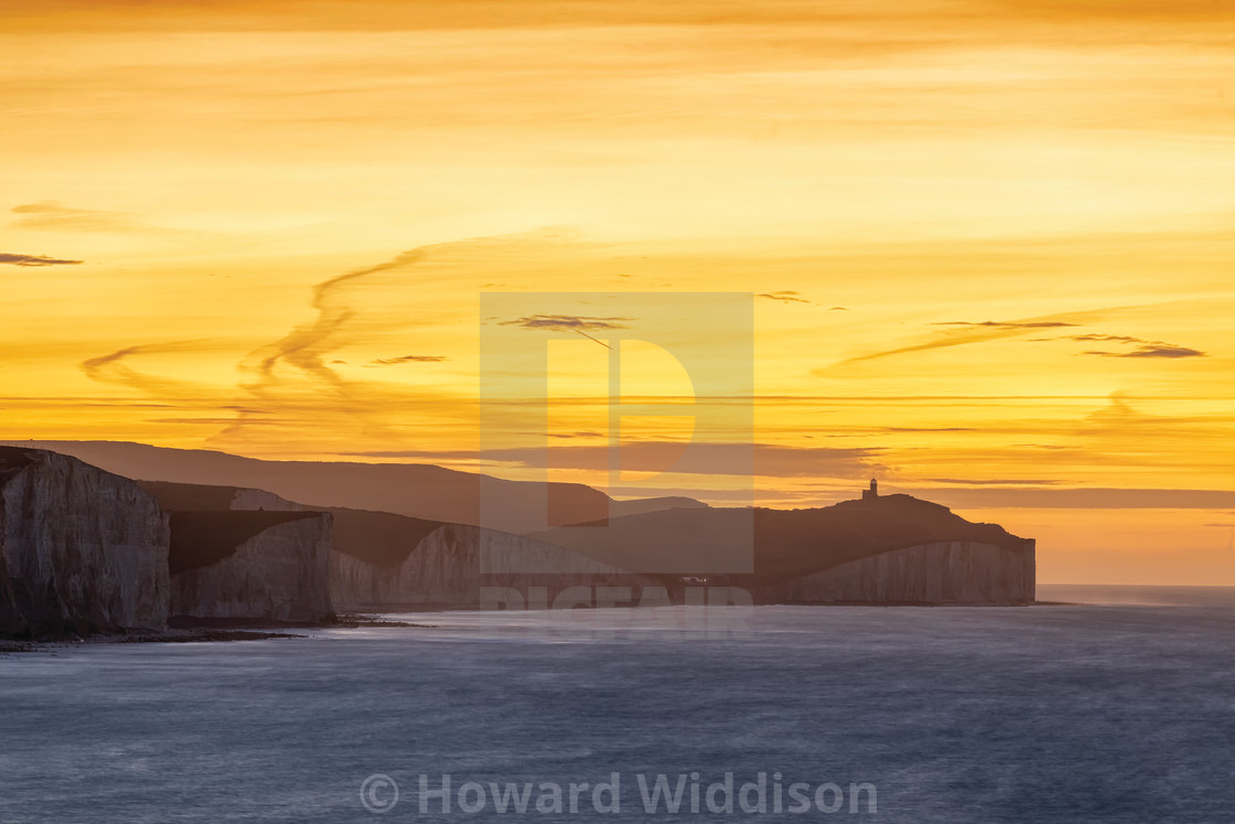 """Belle Tout from Seaford Nature Reserve"" stock image"