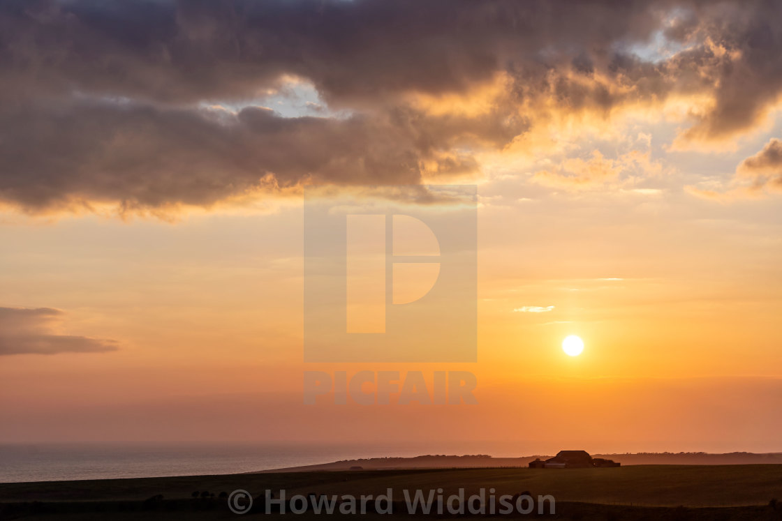 """""""Sunset from Warren Hill"""" stock image"""