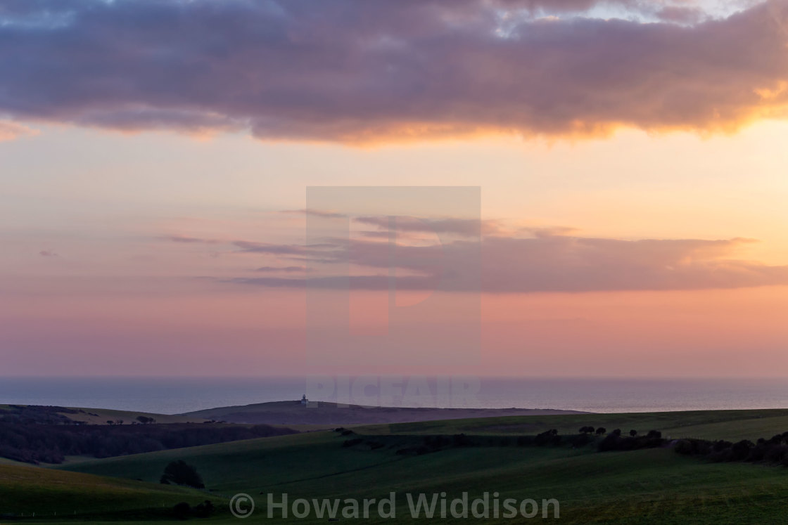 """Belle Tout from Warren Hill 2"" stock image"