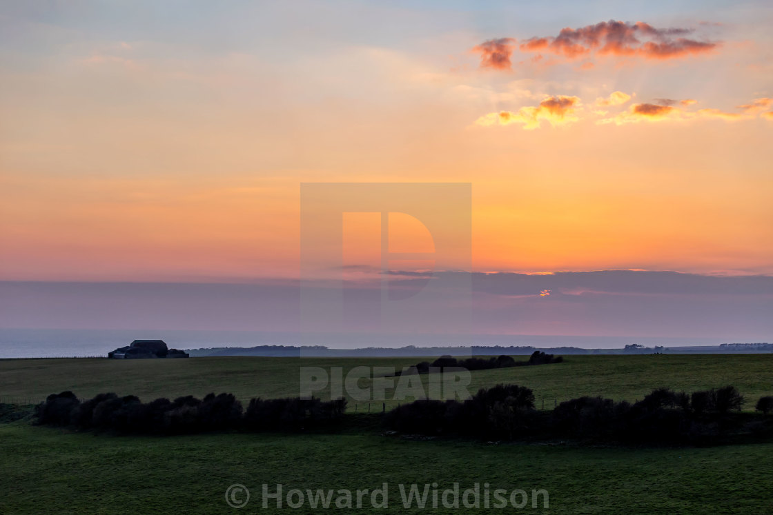 """Sunset from Warren Hill 2"" stock image"