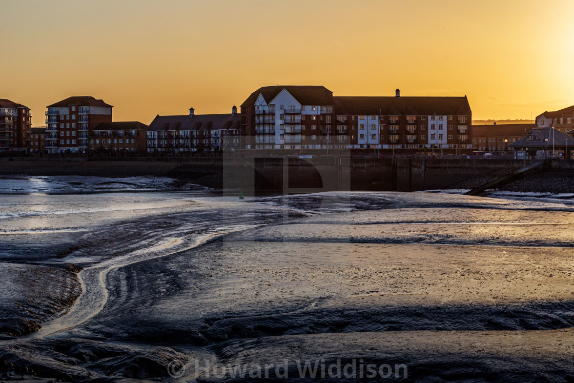 """Sovereign Harbour at Sunset"" stock image"