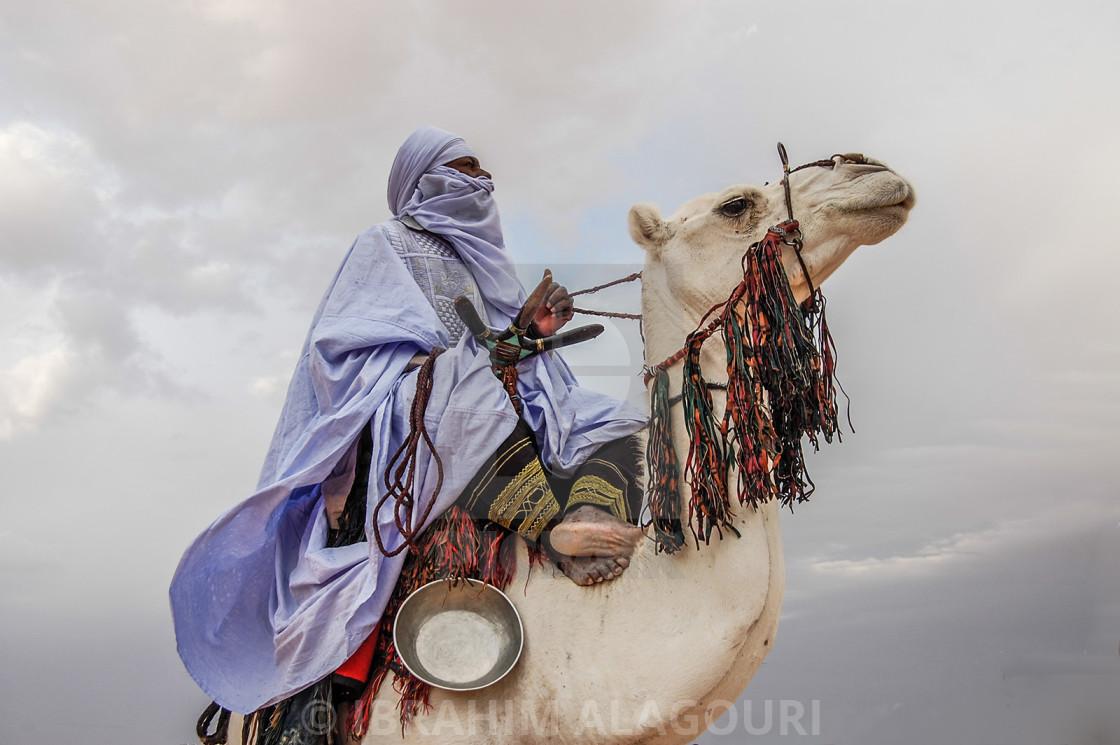 """The Libyan Tuareg in Desert ""GHAT ""LIBYA"" stock image"