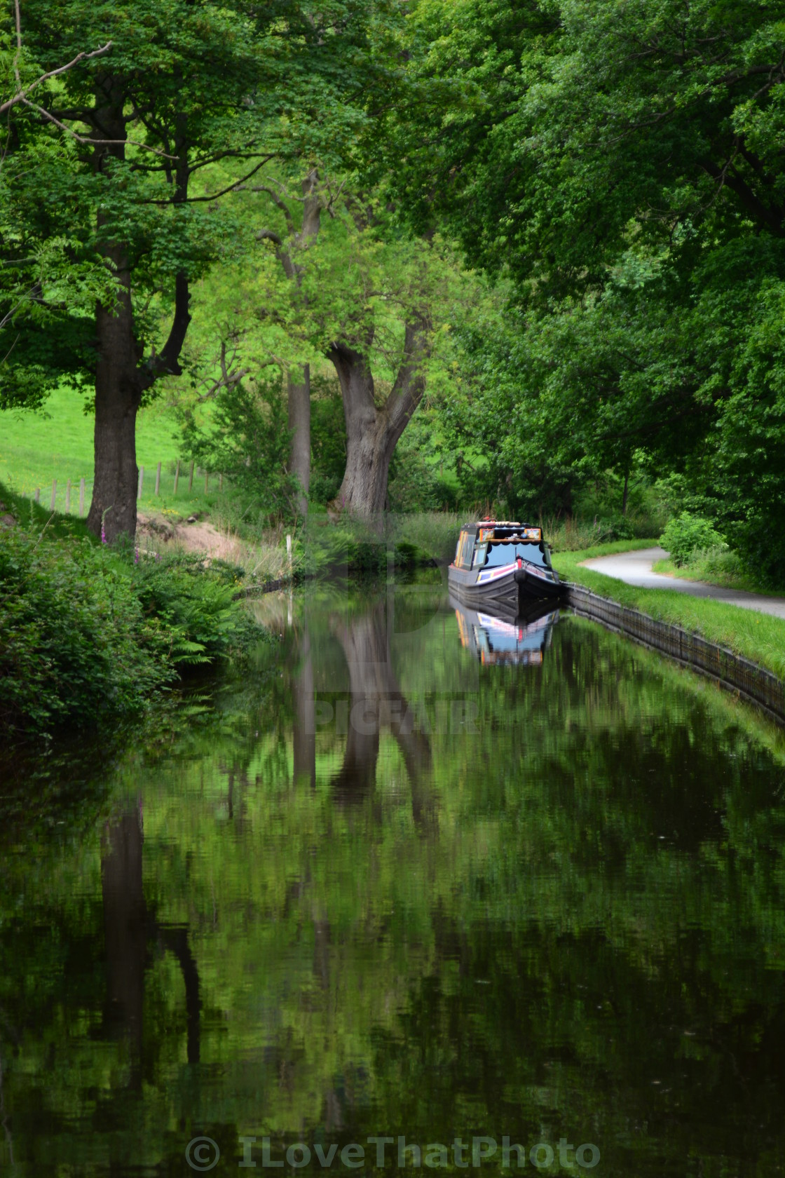 """Canal boat Llangollen"" stock image"