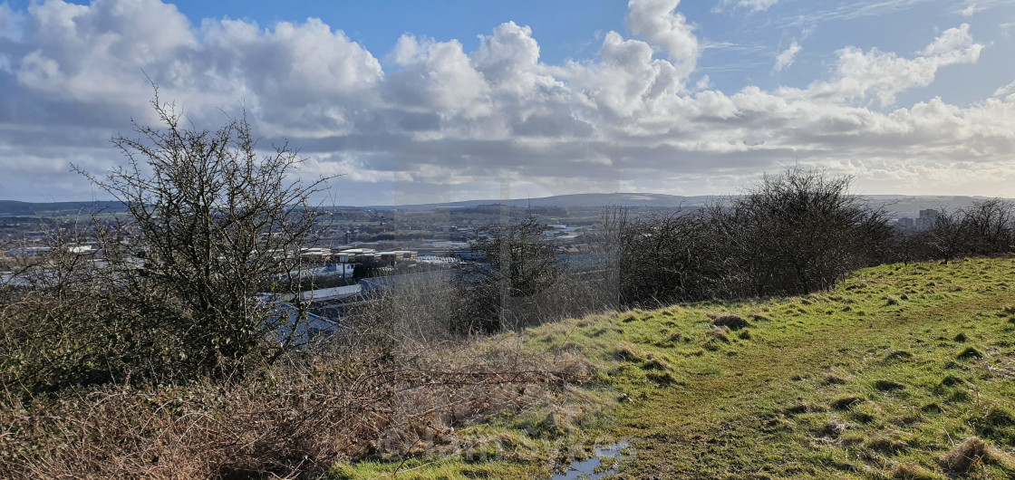 """View across to Darwen"" stock image"