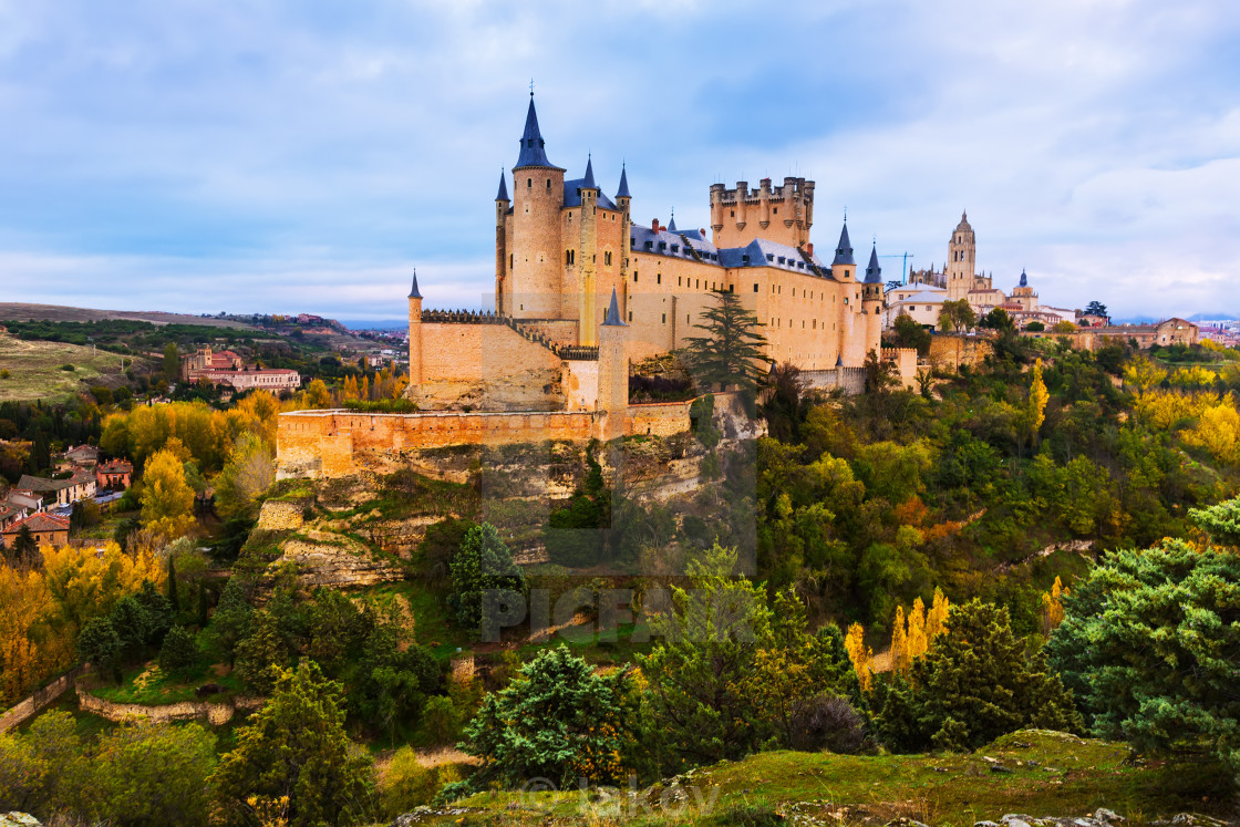 """Alcazar of Segovia in day time"" stock image"