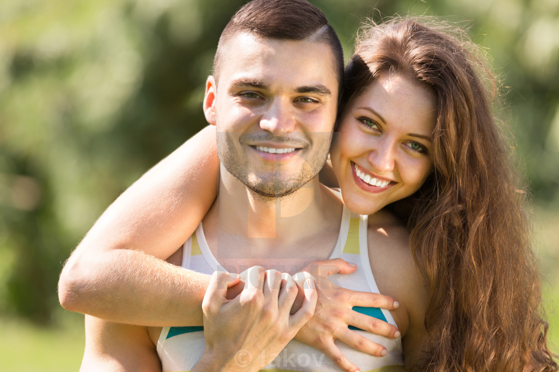 """Portrait of happy men and women"" stock image"