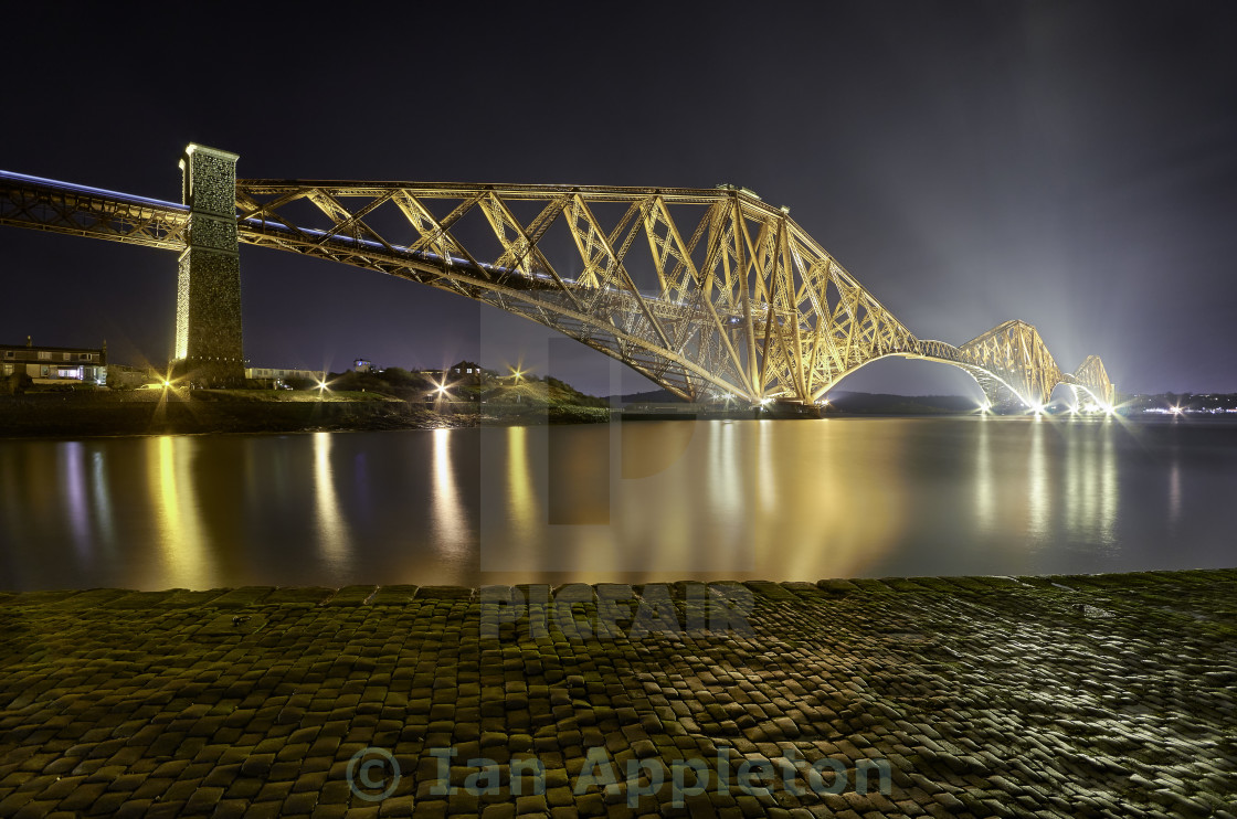 """Forth Rail Bridge at Night"" stock image"