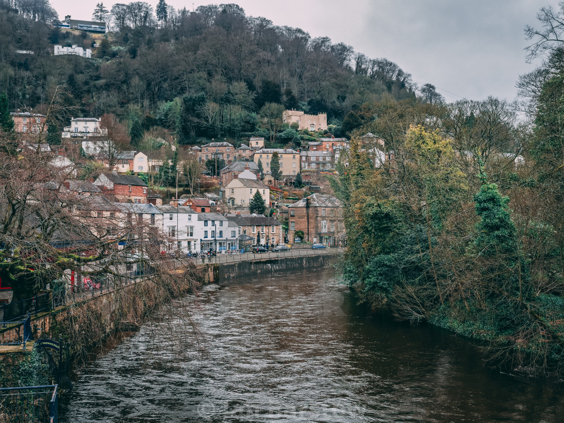 """Matlock Bath riverbank"" stock image"