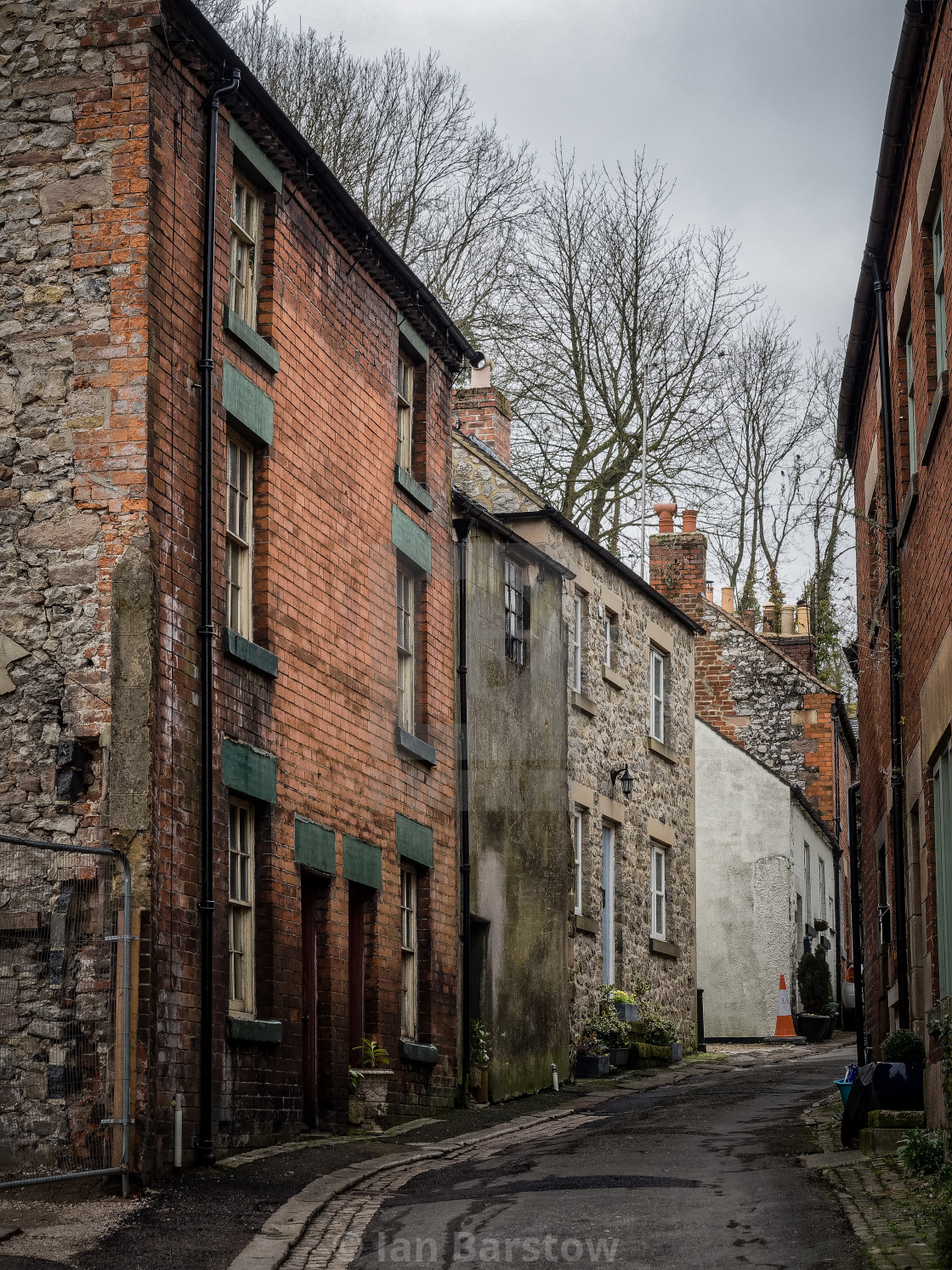 """Wirksworth street"" stock image"
