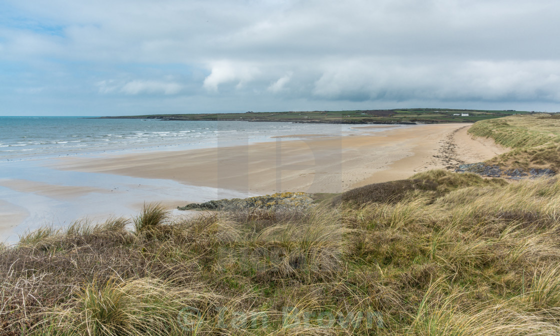 """The Beach at Aberffraw"" stock image"