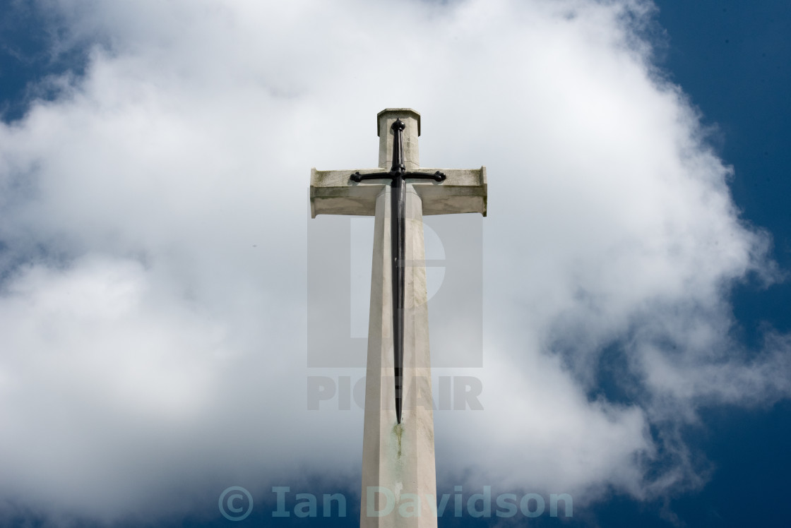 """World War I Belgium war memorials"" stock image"