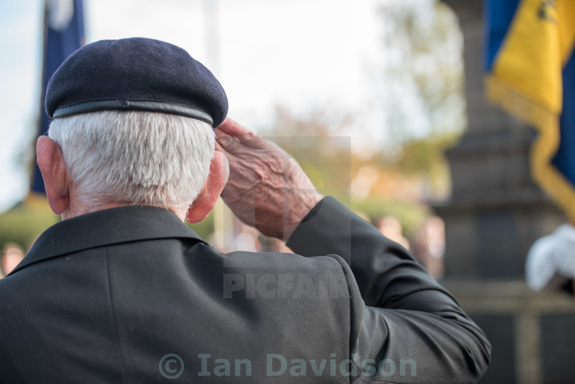 """Brentwood, Essex two minute silence for Armistice day"" stock image"