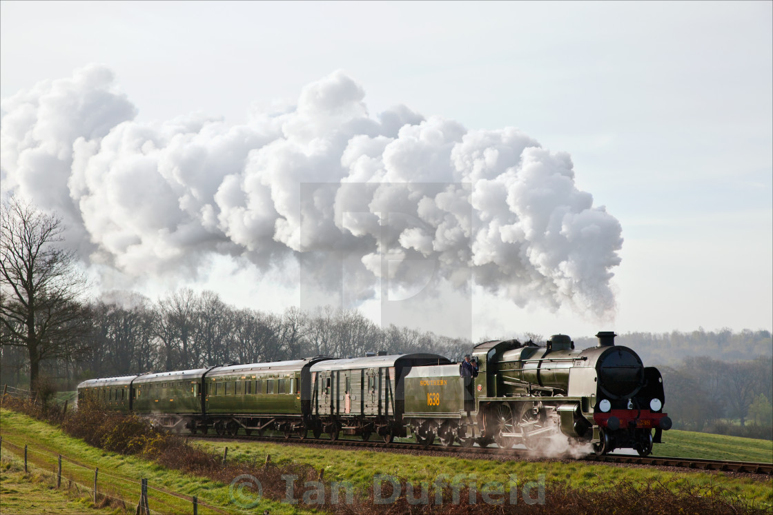 """Early morning steam train"" stock image"