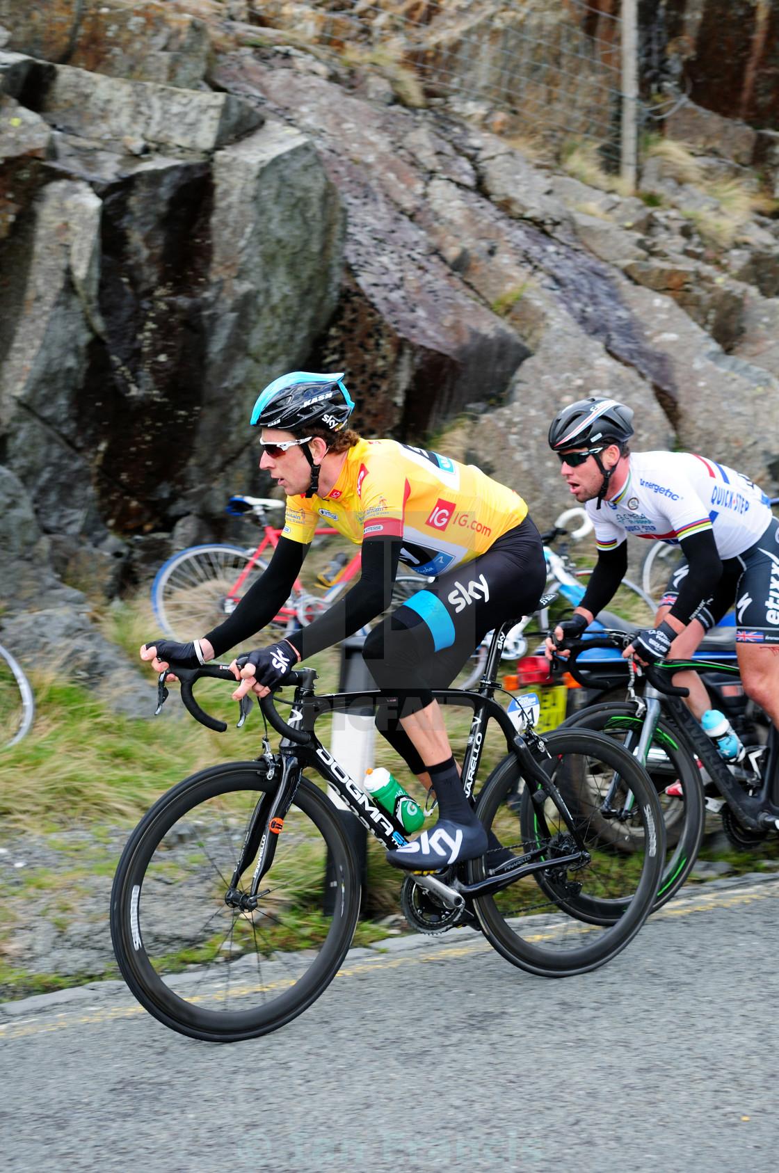 """Tour of Britain ,Stage 4 -Stoke-On-Trent to Llanberis(Pen-Y-Pas)."" stock image"