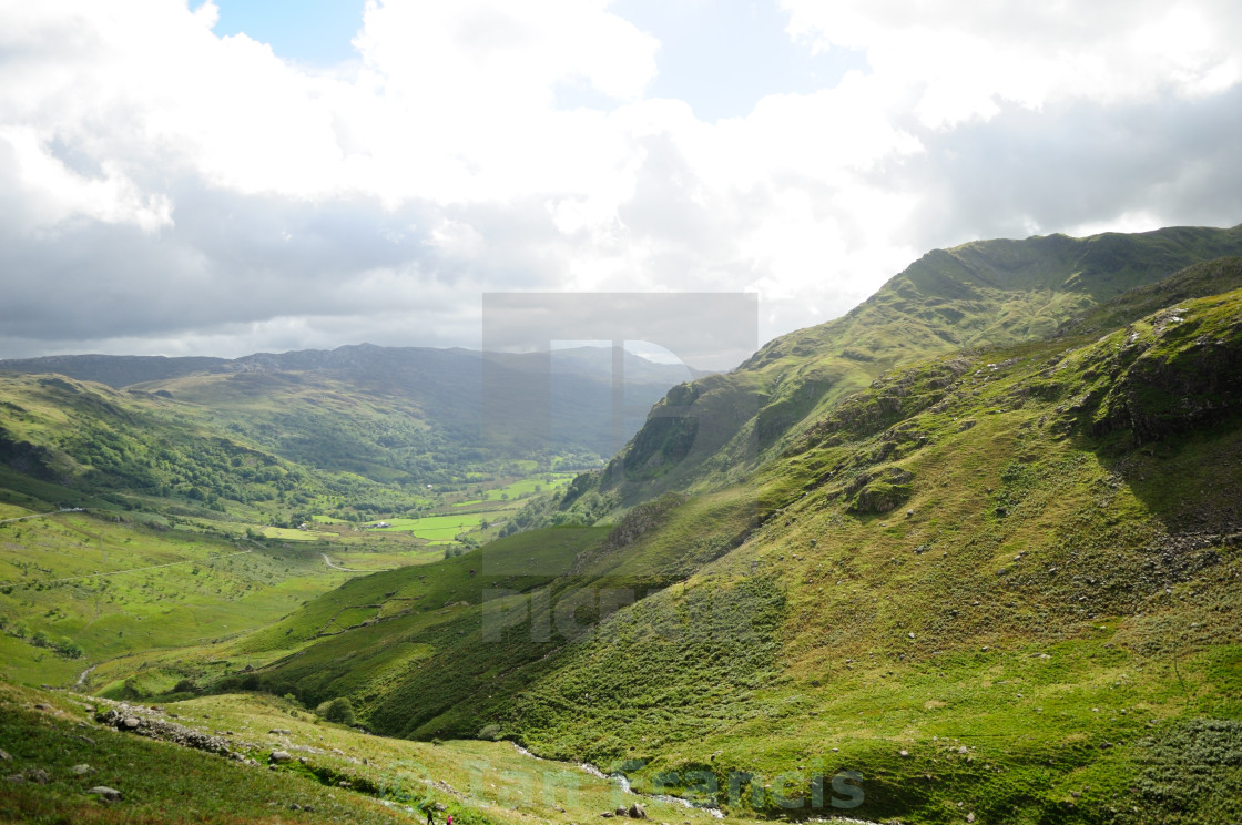 """Llanberis Pen-Y-Pass view ."" stock image"