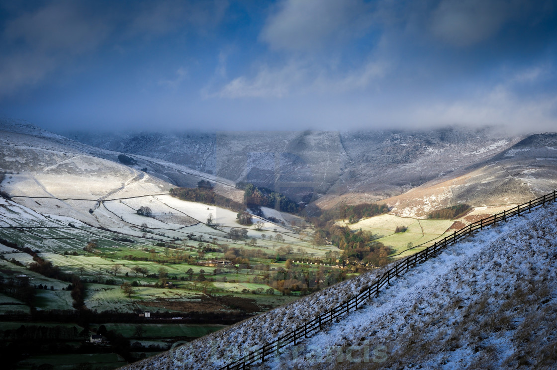 """Edale Valley Derbyshire ."" stock image"