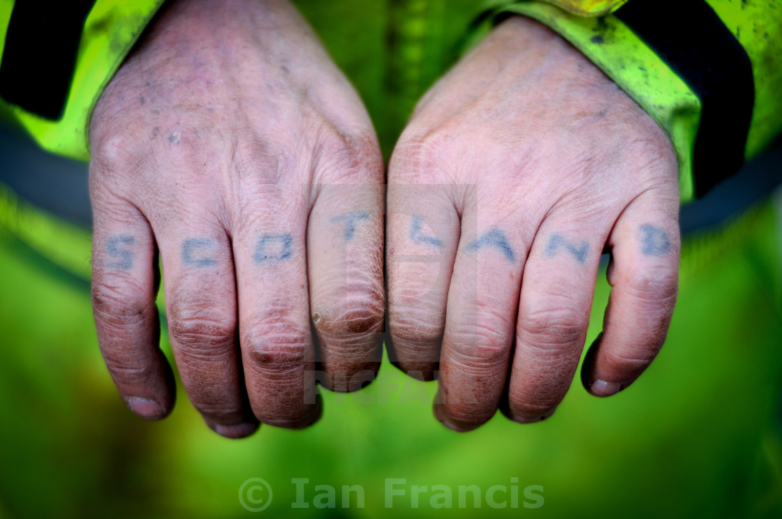 """Scotland Working Hands"" stock image"