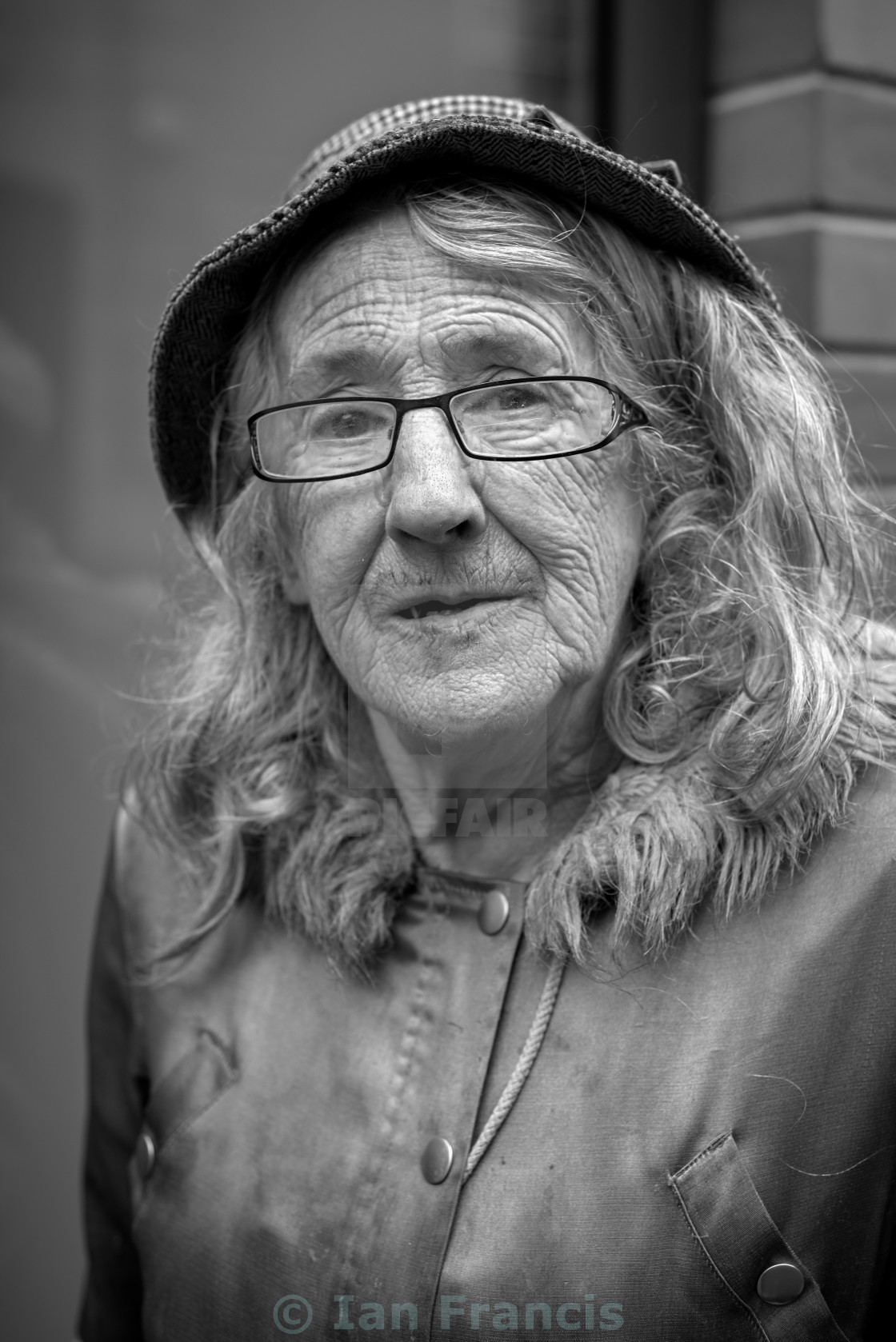 """Portrait of an Elderly Woman"" stock image"