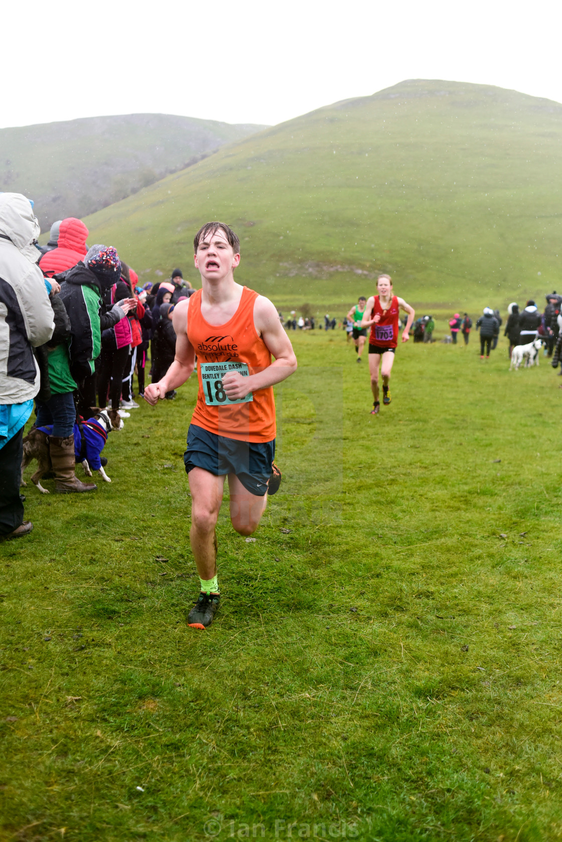 """60th Dovedale Dash Derbyshire,UK."" stock image"