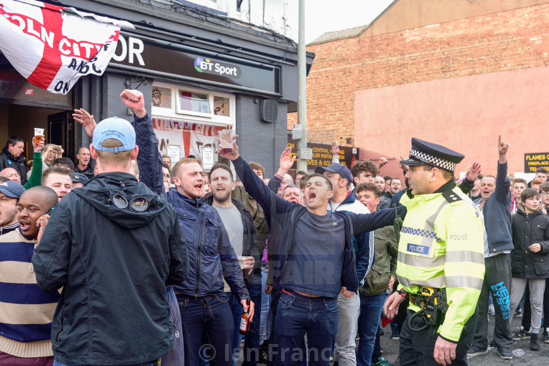 """""""Lincoln City Supporters 2017 'We Are Imps' Victory parade ."""" stock image"""