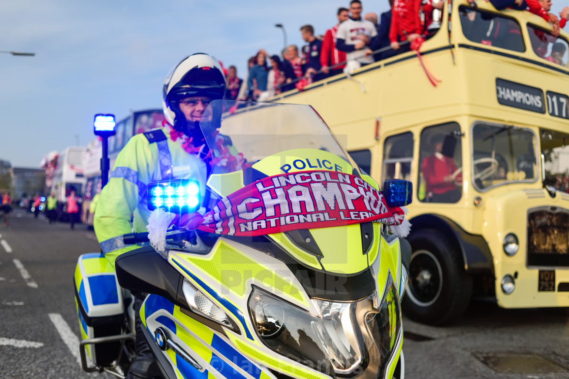 """Lincoln City Football Club Victory Parade 2017"" stock image"