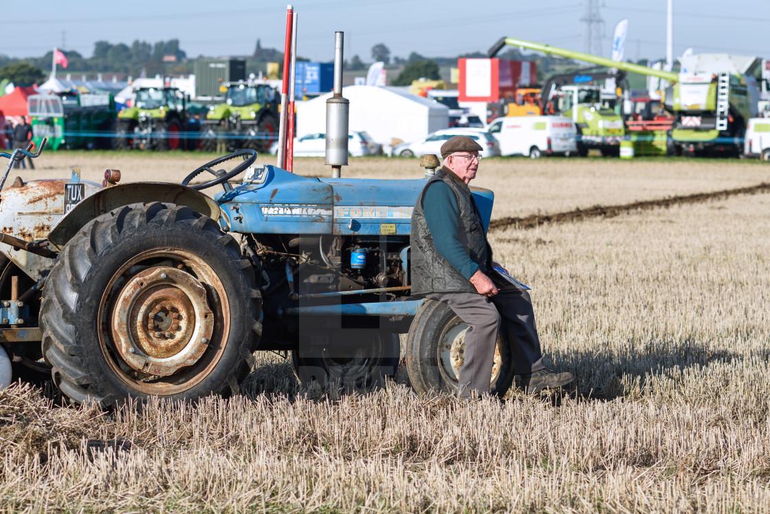 """Southwell Ploughing In Nottinghamshire,UK."" stock image"