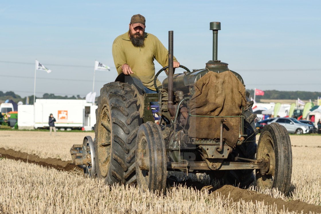 """Southwell Ploughing In Nottinghamshire,UK."" stock image"