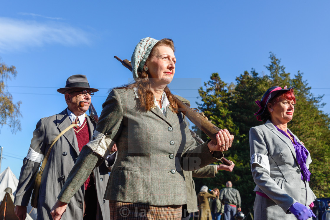 """""""1940s Weekend at Papplewick Pumping Station In Nottinghamshire,UK."""" stock image"""