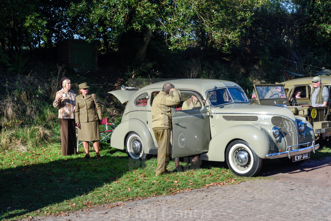 """1940s Weekend at Papplewick Pumping Station In Nottinghamshire,UK."" stock image"