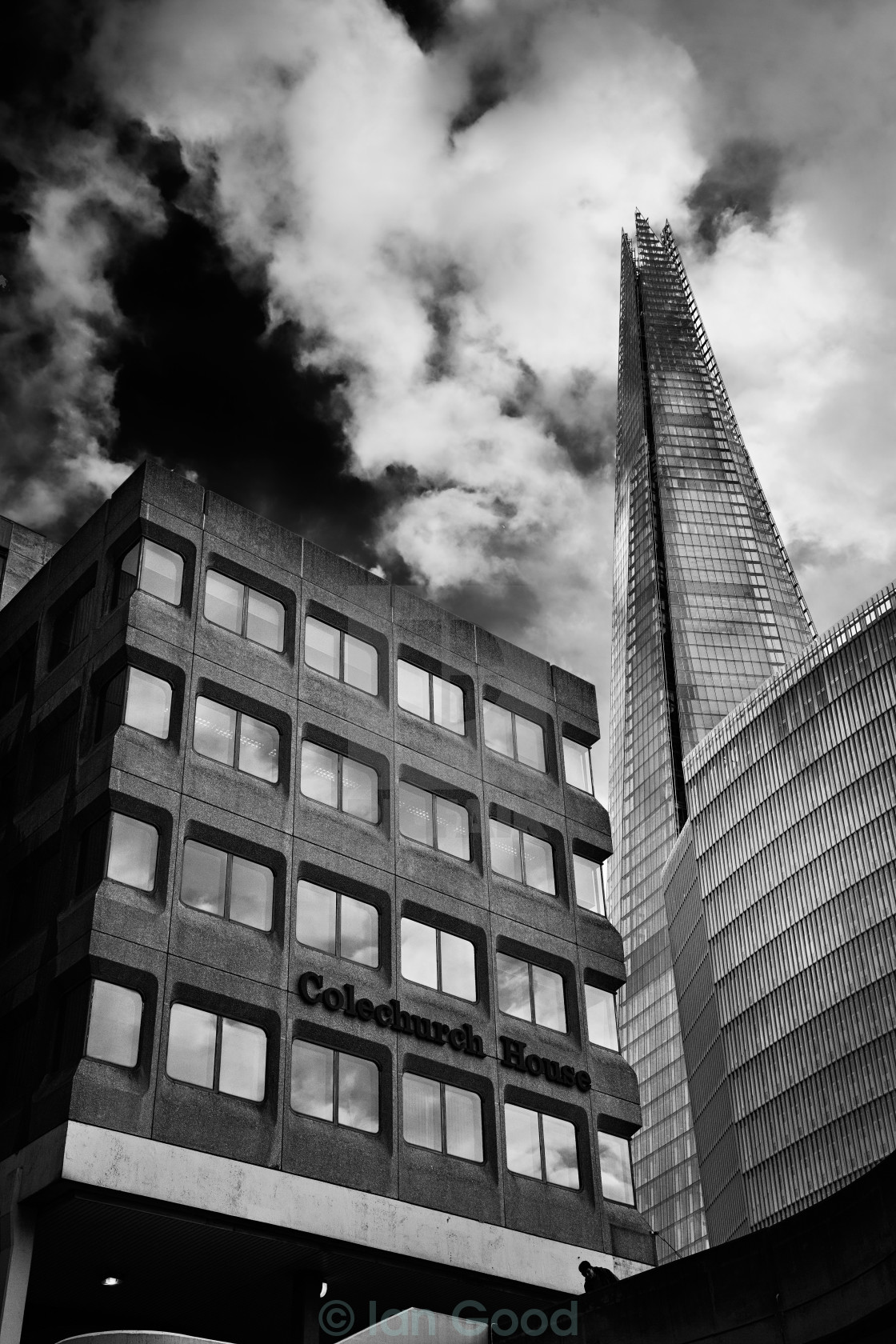 """The Shard from Tooley Street"" stock image"
