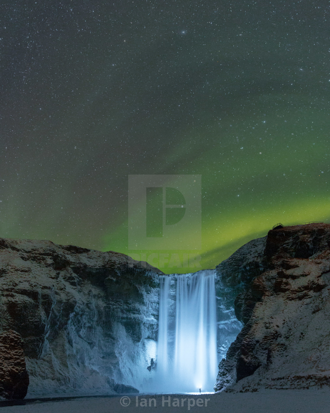"""northern lights in iceland"" stock image"