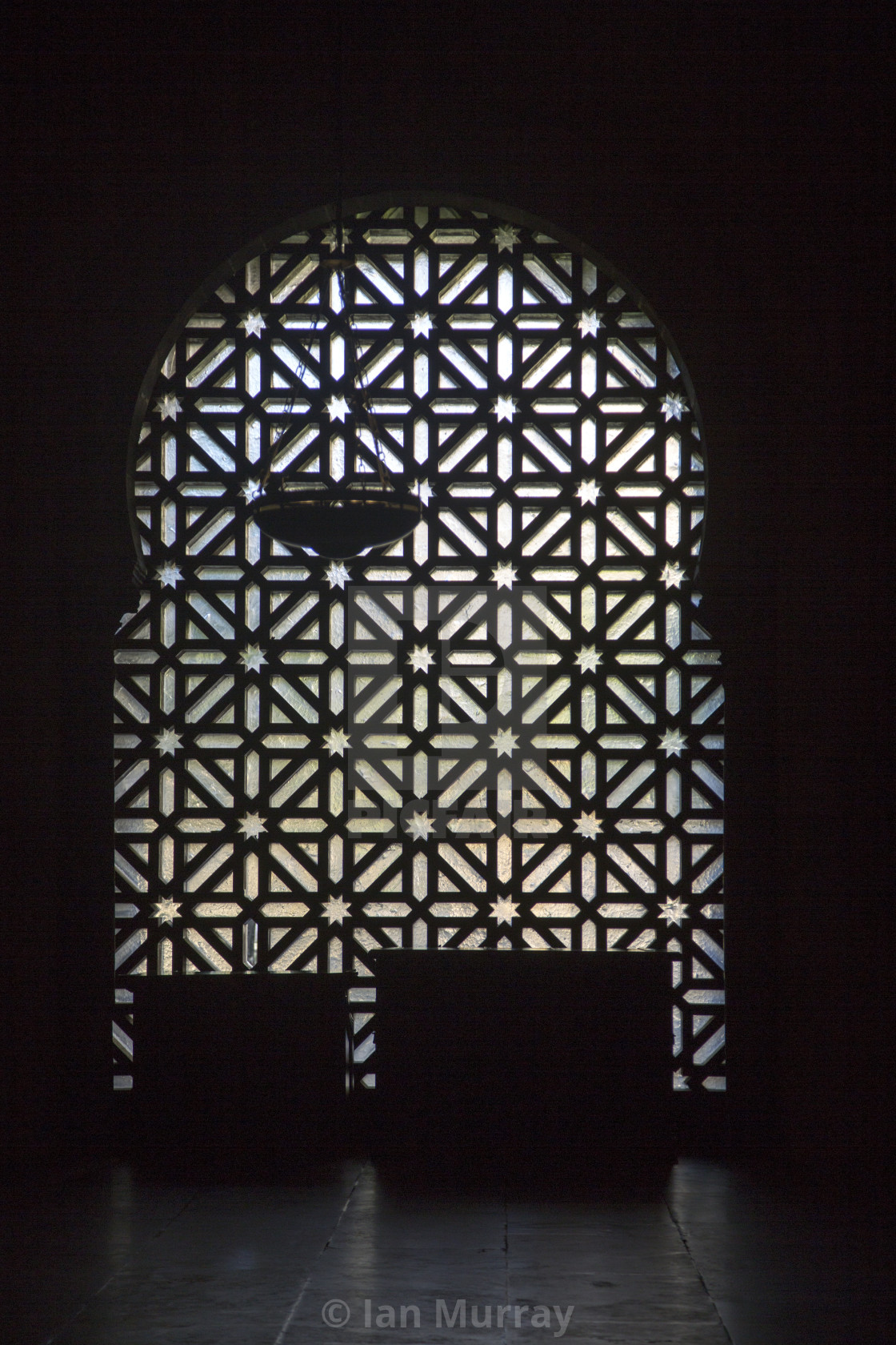 Silhouette Pattern Of Metalwork On One Of The Doorways To The Former