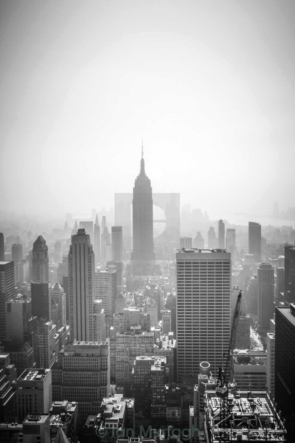 """Empire State Of B&W"" stock image"