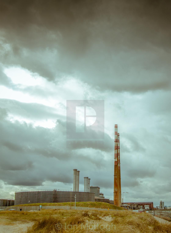 """""""Poolbeg Power Station"""" stock image"""