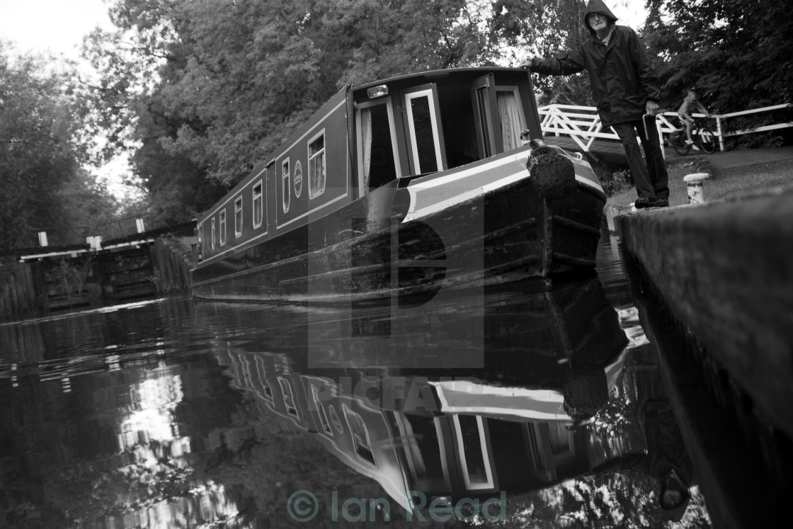 """""""Kennet & Avon Canal Life"""" stock image"""