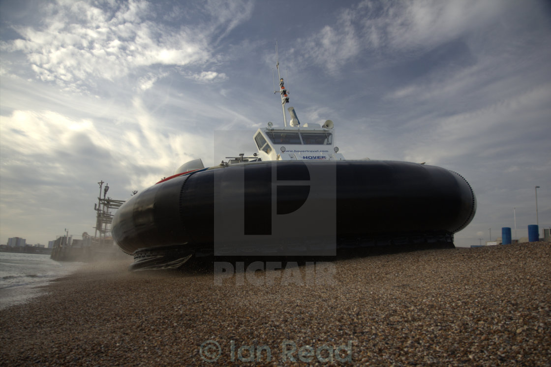 """Hovercraft Beaching"" stock image"