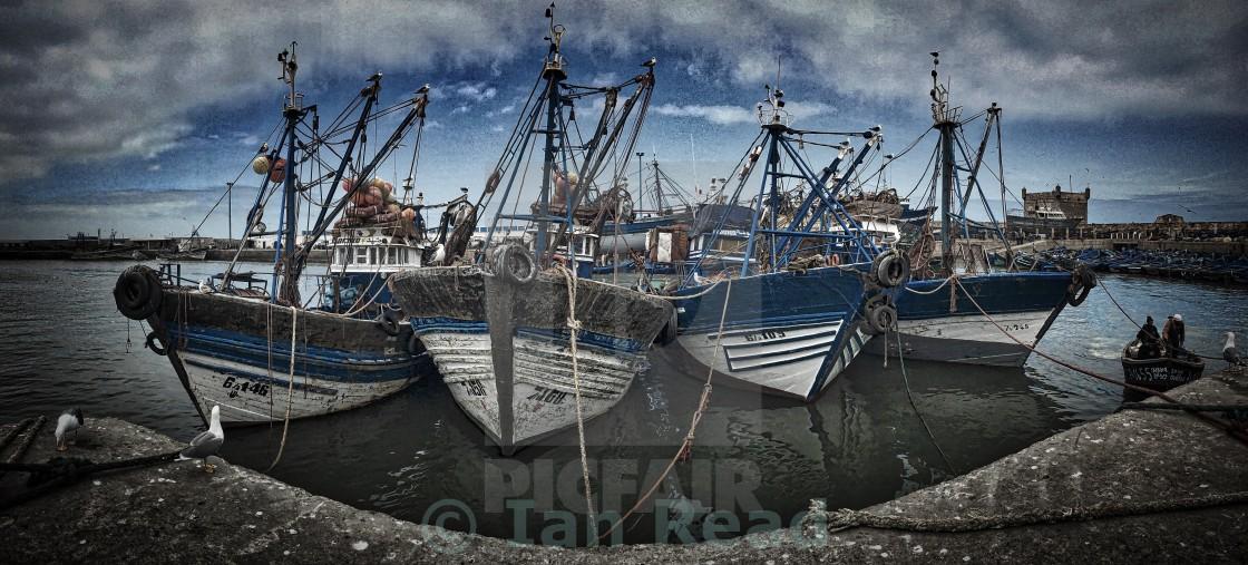 """Fishing boats"" stock image"