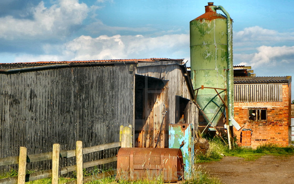 """Derelict Farm Buildings"" stock image"